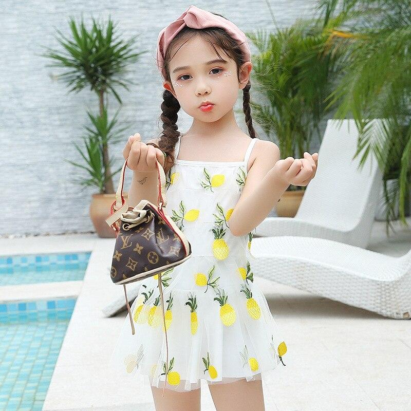 New Style KID'S Swimwear GIRL'S Girls One-piece Princess Dress-Baby Women's Small CHILDREN'S Big Boy BABY'S Bathing Suit