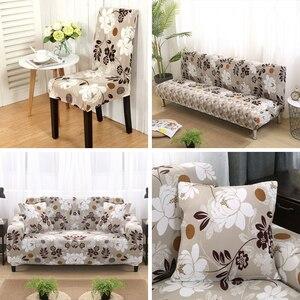 Image 3 - Renkli geometrik 1/2/3/4 kişilik kanepe kapak sıkı wrap her şey dahil kesit elastik koltuk kanepe kapakları slipcovers noel