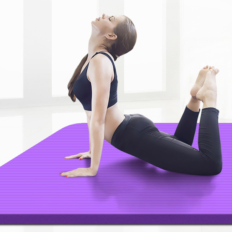 15mm Thick NRB Non-slip Yoga Mats For Fitness Tasteless Pilates Gym Exercise Pads With Yoga Strap 183cmX80cm Super Large