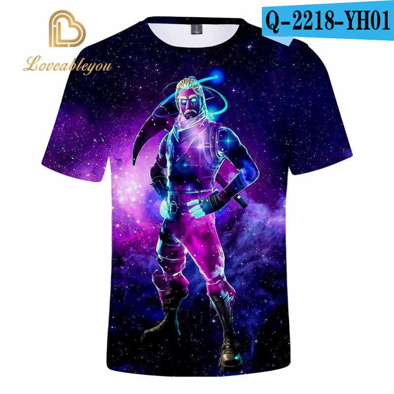 Erkekler T-shirt çocuk 110-160 3d baskılı T Shirt Homme Unisex rahat kısa gömlek Cosplay Tshirt oyun çocuk komik T shirt