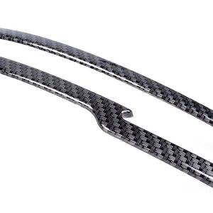 Image 2 - Porta do carro espelho retrovisor lateral capa guarnição tira abs padrão de fibra de carbono decoração para nissan rogue esporte qashqai j11 2011 2018