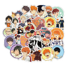 50Pcs  Volleyball Boy Stickers Anime Stickers for Skateboard Laptop Car Styling Luggage Waterproof Stickers for Gift