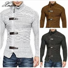Xnxee 2019 Autumn Winter Sweater Cardigan Men Casual Slim Sweaters Male Warm Thick Hedging Turtleneck S-3XL