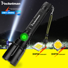 Powerful LED Flashlight 120000LM XHP70.2 Rechargeable Torch XHP50 USB Zoom Lantern XHP70 Hunting Lamp Fishing Use 26650