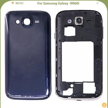 Nueva funda de batería para Samsung Galaxy Grand Neo i9060i, carcasa trasera + marco medio + Marco de cámara, carcasa del chasis trasero