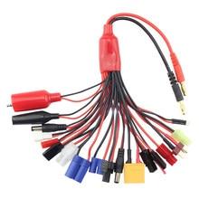 AIO Cable de carga 4,0mm adaptador de conector T Tamiya XT60 EC3 JST Cable de alambre para Imax B6 B6AC batería Lipo RC Drone