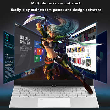 LHMZNIY Laptop 15.6 inch Windows10 Notebook 16GB DDR4 RAM 1T SSD HD screen intel 1.8GHz Camera student laptop Office MC LOL game