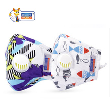 цены DR.ROOS 1 pc children kids cotton PM2.5 Anti Haze Mask Breath Valve Anti-dust Mouth Mask Activated Carbon Filter Respirator Mask