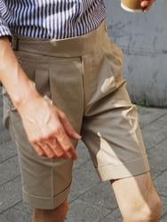 Лето 2020 Американа кацзи Американский Ретро силуэт свободные четверть брюки мужские хлопок гурха бермуды повседневные брюки