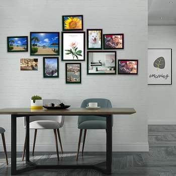 11Pcs DIY Wall Hanging Photo Frame Set Family Picture Display Modern Art Home Decor Bedroom Living Room Wall Decoration 1