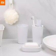 Xiaomi mijia 워시 세트 3 in 1 그루밍 키트 목욕 가글 컵 비누 상자 스마트 홈을위한 유용한 샤워
