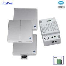 Interrupteur mural sans fil, 1/433 boutons, 110 MHz, AC 220/2/3 V, 10a, pour éclairage familial, bouton pour maison intelligente, luminaire de plafond