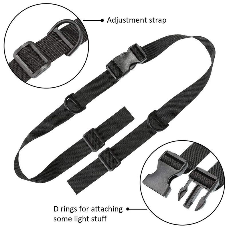2 Pieces Backpack Chest Strap Adjustable Backpack Sternum Strap Chest Belt with Buckle for Hiking and Jogging