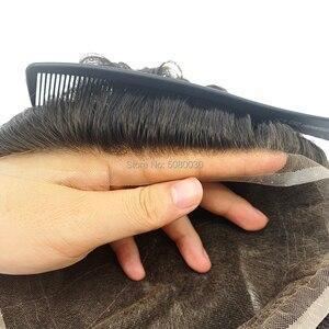 Image 5 - الدانتيل الكامل قاعدة رجل باروكة من شعر طبيعي شعر ريمي الشعر المستعار نفاذية الهواء جيدة