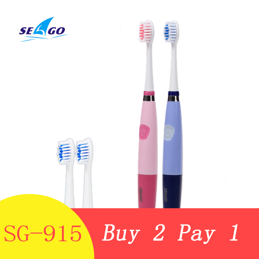 Automatic Ultrasonic Sonic Toothbrushes Electric Toothbrush Battery Waterproof Sonic Toothbrush with Replacement Brush Heads image