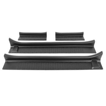 For Jeep Wrangler JL 2018+ 2/4 Doors Car Door Sill Scuff Plate Guard Cover Car Door Anti Scratch Scuff Entry Pedal Sticker Trim
