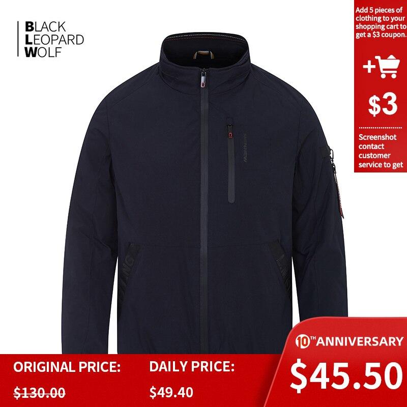 Blackleopardwolf 2020  New Arrival Spring Jacket Men Thin Cotton Waterproof Men's Jacket Male Hooded Windbreaker Casual  ZC-6212