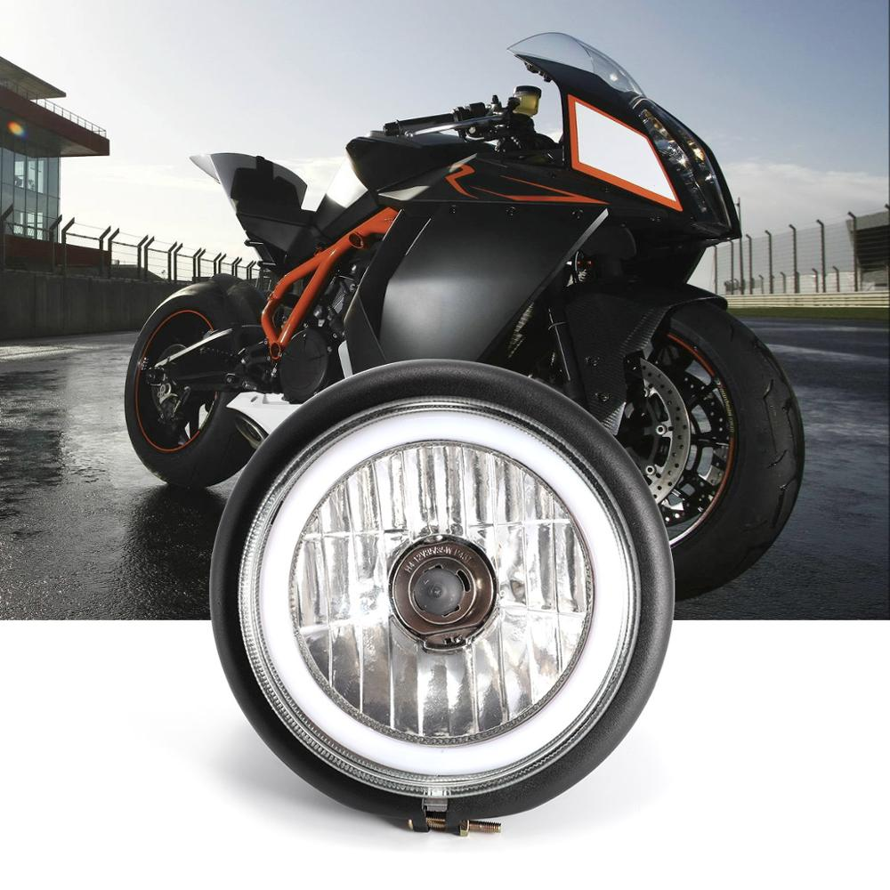 H4 12V 35W Headlight Vintage Round Motorcycle Head Light Scooter Motorbike Motor Front Headlights Lamp Universal D40