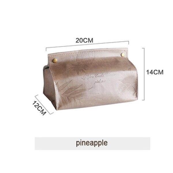 Шикарный чехол для салфеток, контейнер из искусственной кожи с мраморным узором, для дома, автомобиля, полотенца, салфетки, бумаги, сумка, держатель, чехол, мешочек, украшение стола - Цвет: brown style 3