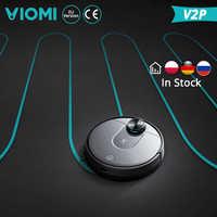 [Ru estoque] xiaomi viomi robô aspirador de pó v2 pro limpeza inteligente alta sucção lds navegação a laser controle elétrico