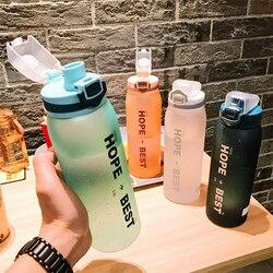 900ml Tritan plastikowa butelka wody BPA bezpłatne bidon na siłownię szczelny wodoodporny butelka jazda na zewnątrz butelka sportowa wybuchu