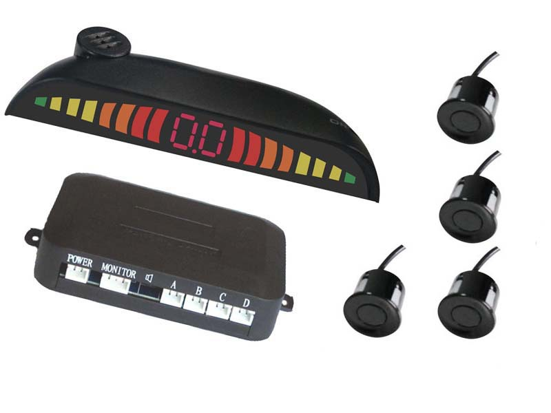 Elektronik Bileşenleri ve Malzemeleri'ten Sensörler'de Benzersiz dijital görünüm LED dijital park sensörü anahtarı ile hilal geri Radar PZ307 title=