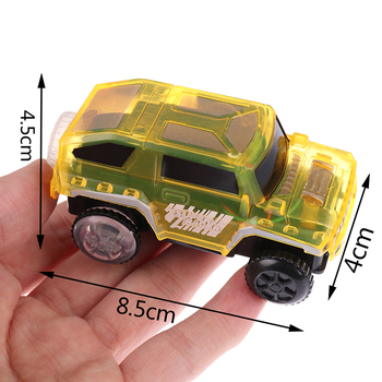 Electronics Special Car for Magic Track Toys With Flashing Lights Educational Kid Railway Luminous Machine Car image