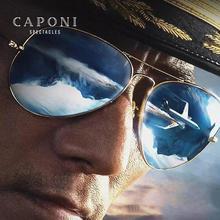 CAPONI Classic Sun Glasses Women Polarized Pilot Vintage Sun