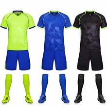 Детские футбольные майки для взрослых, футбольные комплекты для мальчиков, Футбольная форма с коротким рукавом, детский футбольный спортивный костюм, командная спортивная рубашка
