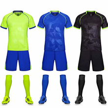 Children Adult Football Jerseys Boys Soccer Sets Short Sleeve Football Uniforms Kids Soccer Tracksuit Team sports shirt