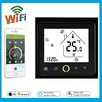 WiFi-Black-Thermostat-Temperature-Controller-for-Electric-Floor-Heating-with-Alexa-Google-Home