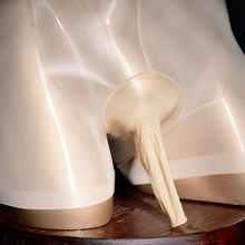 Lingerie Sexy sous-vêtements gays érotiques chauds gaine de pénis huile de Massage brillant Sissy U pochette convexe anneau de coq Boxer culotte grande taille