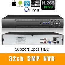 H.265+/H.264 8ch* 4 K/32ch* 5.0MP/32ch* 1080P сетевой видеорегистратор 1080 P/720 P ip-камера ONVIF CMS XMEYE 2* SATA HDD