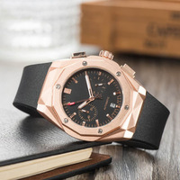 FOSSIL top Brand Man Watch Business AAA Quartz Watches with Silicone Luxury Watch for Men Waterproof Wristwatch