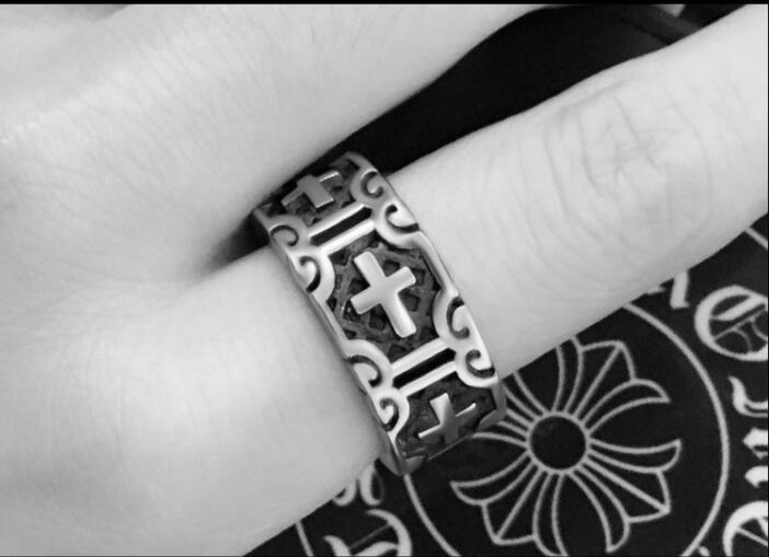 Крест религия кольцо для мужчин сплав Байкер Готический ювелирные изделия в стиле рок и панк уличная мода аксессуары украшения
