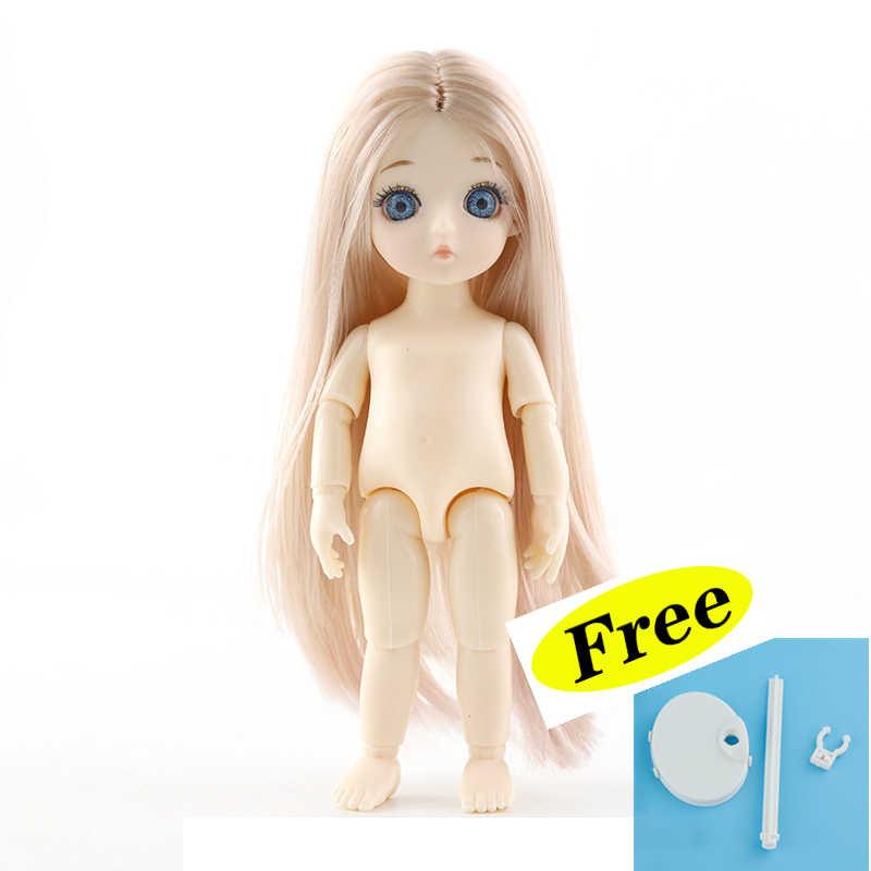 Neue 13 Beweglichen Gelenk Puppen Spielzeug mit Kostenloser Stehen Mini 16cm BJD Baby Mädchen Junge Puppe Nackt Nude Körper puppen Spielzeug für Mädchen Geschenk