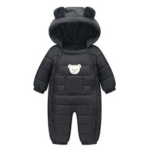 Зимний комбинезон для новорожденных мальчиков и девочек; детские комбинезоны; зимняя теплая одежда из толстого хлопка; комбинезон на молнии; комбинезоны с героями мультфильмов; ropa de invierno