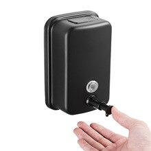 black 304 stainless steel wall mount soap liquid container 500ML soap liquid box hand-washing liquid bottle foam soap dispenser