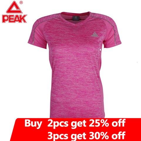 Camisa de Compressão Pico Camisa Feminina Yoga Training Correndo Respirável Secagem Rápida Ginásio Roupas Mulher t Fw66266 Gym