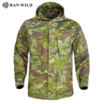 HAN WILD M65 Tactical Jacket Men US Army Waterproof Windbreaker Multi-Pocket Camouflage Military Outdoor Camping Hunting Coat winter outdoor training waterproof warm m65 us tactical windbreaker coat autumn flight pilot hooded thermal military jacket tops