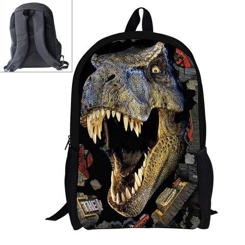 criancas meninos dinossauro tiranossauro saco para adolescentes