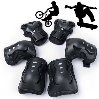 6pcs Elbow Knee Pads Bike Motorcycle Protective Gear Sets Basketball Knee Pads Skating Sports Kneepad Brace Support Protector 1pcs knee pads kids sports knee pads anti collision basketball honeycomb knee pad brace children skating running elbow pad