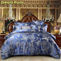 Floral Pattern Luxury Bedding Set Modern Jacquard Duvet Cover Sets Single Queen King Size Wedding Bed Linens Europe Quilt Covers