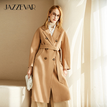 Outerwear Coat Wool Double-Faced JAZZEVAR Winter Women for Lady Atumn Hand-Sewn High-Quality