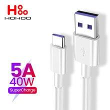 5a usb tipo c cabo para huawei companheiro 40 p40 p30 pro honra xiaomi cabo de carregamento rápido 2m para redmi nota 7 8 pro 8a 6a tipo-c cabo