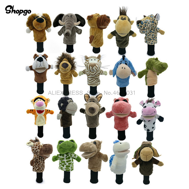 Absorbing Golf Animal Head Cover Golf Cover Protector Fit Up To Fairway Woods Men Lady Mascot Novelty Cute Gift