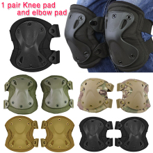 Adult Tactical Combat Protective Pad Set Professional Gear Sports Military Knee Elbow Protector Elbow & Knee Pads New D30 outdoor adult s tactical protective knee pad support airsoft paintball combat knee protector kneepads free shipping
