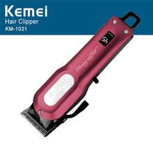 Kemei Professional Hair Clipper Electric Hair Trimmer Haircut Shaving Cutting Machine Powerful  Barber Razor Cordless  KM-1031 цена и фото