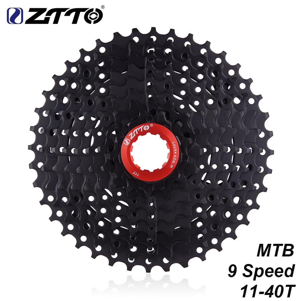 Кассета ZTTO 9 скоростей 11-40T черная 9 скоростей 40T свободный круг 11-40 9 s K7 совместимая с Горным велосипедом M430 M4000 M3000
