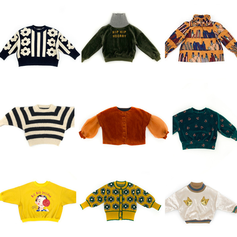 New Autumn Boys Girls Cartoon Cotton T Shirts MF Brand Children Tees Boy Girl Long Sleeve Sweater Kids Jacket Tops Baby Clothes 1